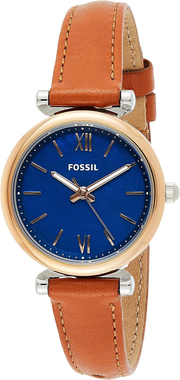 Fossil Carlie Mini Blue Dial Women's おしゃれ Quartz 注文後の変更キャンセル返品 Es4701 Watch