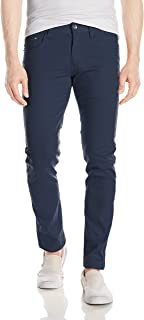 WT02 Mens 9091-3311 Basic Color Twill Stretch Span Pants Solid Casual Pants