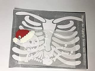 Santa Baby Pregnant Skeleton DIY Iron-on