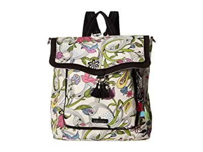 Sakroots Colette Convertible Backpack (White Peace Dove) Backpack Bags