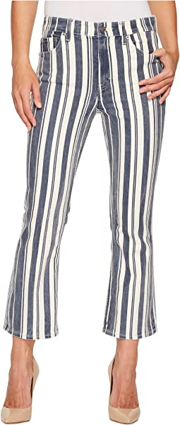 Bridgette Mini Boot Jeans in Perry Stripe Blue