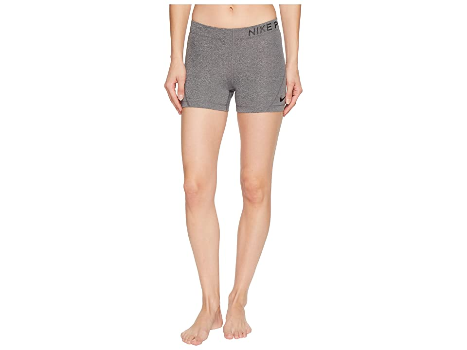 Nike Pro 3 Training Short (Charcoal Heather/Black) Women