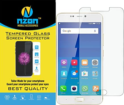 nzon™ Gionee A1 Plus Full Coverage Tempered Glass, nzon [Edge to Edge Crash Protection] Curved [Scratch Proof] [Bubble Free] Tempered Glass Screen Protector for Gionee A1 Plus - Clear