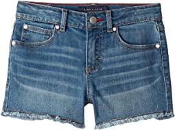 Embroidered Flag Pocket Denim Shorts in Broadway Wash (Little Kids/Big Kids)