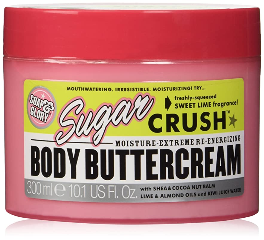 周囲自体部Soap And Glory Sugar Crush Moisture Extreme Body Shea & Cocoa Buttercream 300ml