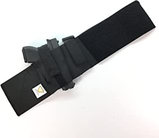 Daltech Force Safestcarry Boot Wrap Ankle Gun Holster with Mag Holster - CCW Concealed Carry Gun Holster for Over The Boot (Black)