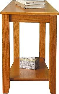 Homelegance Elwell Wedged Chairside Table Table, Oak