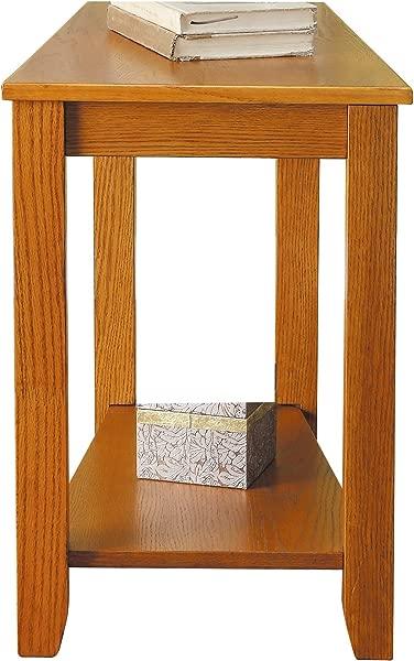 Homelegance Elwell Wedged Chairside Table Table Oak