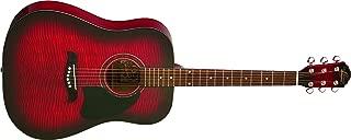 Oscar Schmidt OG2FBC-A-U Acoustic Dreadnought Size Guitar. Flame Black Cherry