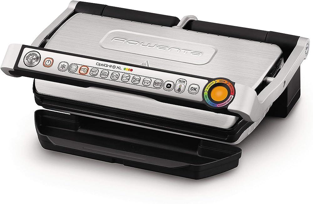Rowenta optigrill+ xl bistecchiera intelligente con 9 programmi di cottura automatici GR722D