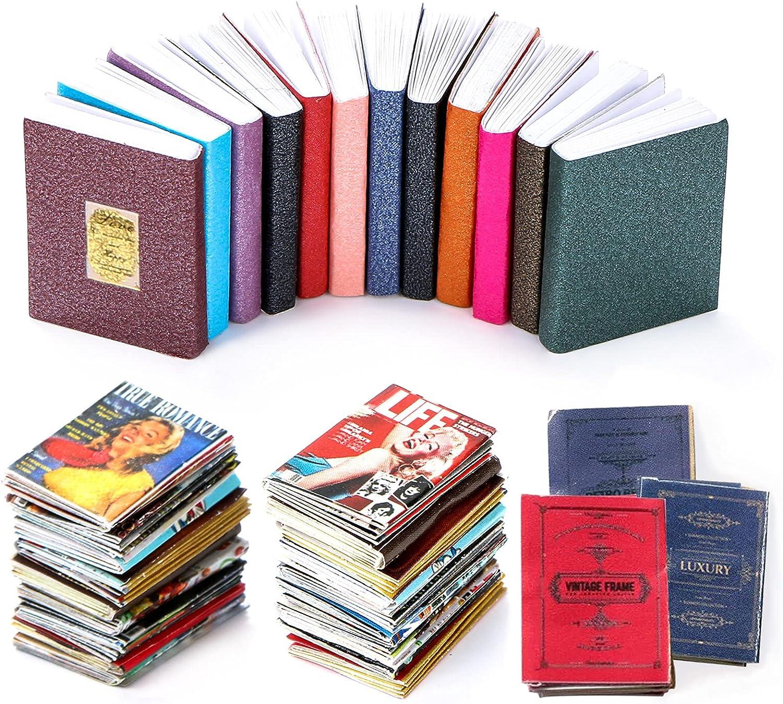 Finally popular brand HOMICO 33 Pcs Miniatures Dollhouse D Ranking TOP19 Mini Books 1:12 Scale
