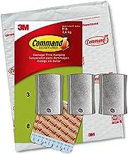 Grampos de luz para ambientes externos Command, transparente, 16 clipes, Jumbo, 3 Hangers, White