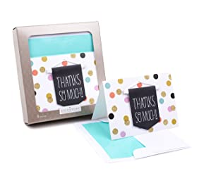 Hallmark Signature Thank You Notes (Thanks Banner, 8 Cards and Envelopes)