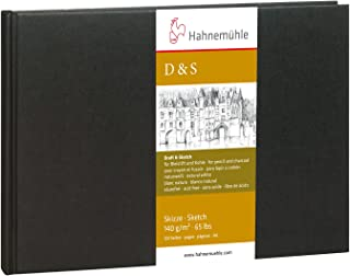 Black with stitched binding Hahnemuhle Sketch Book D/&S 140gsm Book 14x14cm