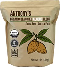 Anthony's Organic Almond Flour, 1lb, Blanched, Gluten Free, Non GMO, Keto Friendly