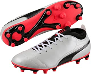 PUMA Men's Puma One Wht-Blk-Fiery, White, Football boots