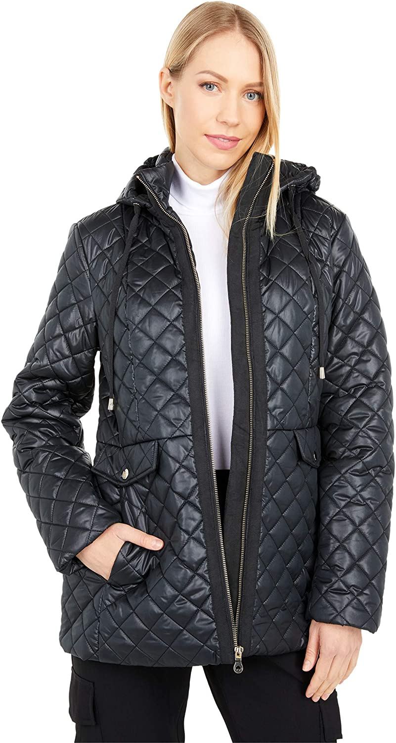 Kate Spade New York Quilted Short Jacket w/Hood