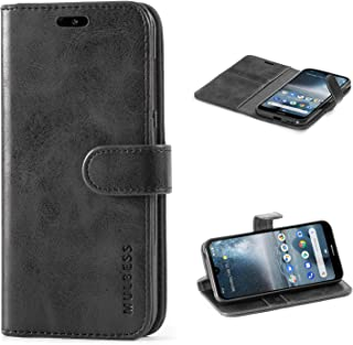Mulbess Nokia 4.2 Protective Cover, Magnetic Closure RFID Blocking Luxury Flip Folio Leather Wallet Phone Case with Card Slots and Kickstand for Nokia 4.2, Black
