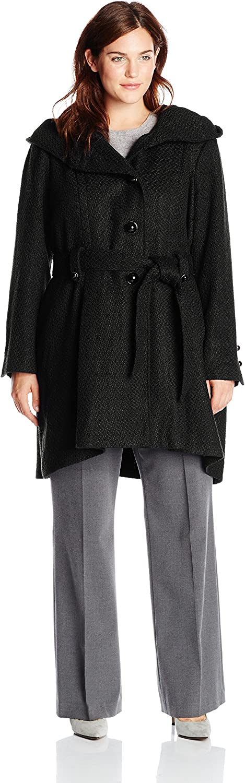 Steve Madden Women's PlusSize Single Breasted Wool Coat  Plus