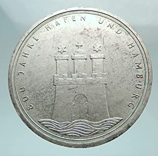 1989 DE 1989 GERMANY Hamburg w Castle Aquila Genuine Anti coin Good Uncertified