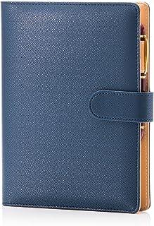 【cosa】システム手帳 A5 サイズ 手帳 ノート スタンダード タイプ 6穴 リング バインダー 内径20mm 横罫 メモリフィル 付き ブルー 合皮 PU レザー (ペンは付属品ではございません) (ロイヤル ブルー)