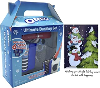 Oreo Mug Ultimate Dunking Gift Set with Cookies and 1 Handicrafted Holiday Card 2.33 oz
