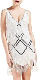 Women's 1920s Flapper Dress V Neck Slip Dress Roaring 20s...