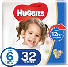 Huggies Ultra Comfort, Size 6, 15+ kg, Value Pack, 32 Diapers