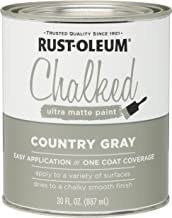 Rust-Oleum, Country Gray 285141 Ultra Matte Interior Chalked Paint 30 oz, 30oz Can