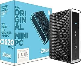 ZOTAC ZBOX CI620 Nano Plus Silent Mini PC 8th Gen Intel Core i3-8130U UHD 620 4GB DDR4/120GB SSD/No OS (ZBOX-CI620NANO-P-U)