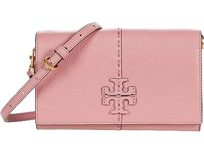 Tory Burch McGraw Wallet Crossbody (Pink Magnolia) Handbags