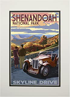 Shenandoah National Park, Virginia - Skyline Drive (11x14 Double-Matted Art Print, Wall Decor Ready to Frame)