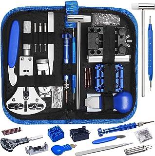 Tonsooze 185 Pcs Kit de Réparation de Montre, Ensemble d'outils de Barre de Ressort Professionnel de Réparation de Montre,...