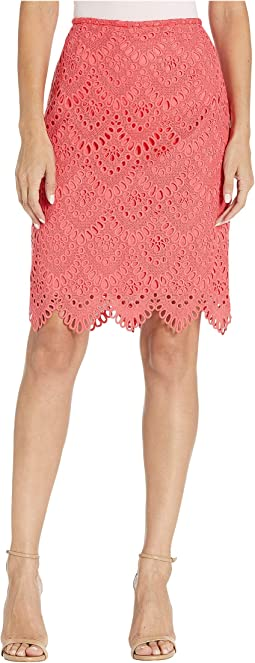 Coral Scallop Lace