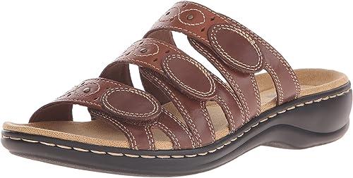 CLARKS Wohommes Leisa Cacti Slide Sandal, marron marron Multi, 8 W US  gros pas cher et de haute qualité