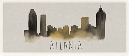 Stupell Industries Atlanta Skyline Silhouette Wall Plaque Art, 7 x 0.5 x 17, Multi-Color