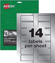 Avery PermaTrack Metallic Asset Tag Labels, 1-1/4