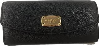 Fulton Slim Flap Black Pebbled Leather Wallet