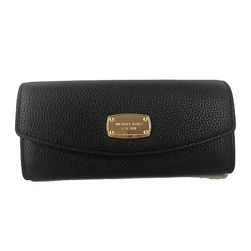 8323f39e6909 Michael Kors Jet Set Slim Flap Pebbled Leather Wallet