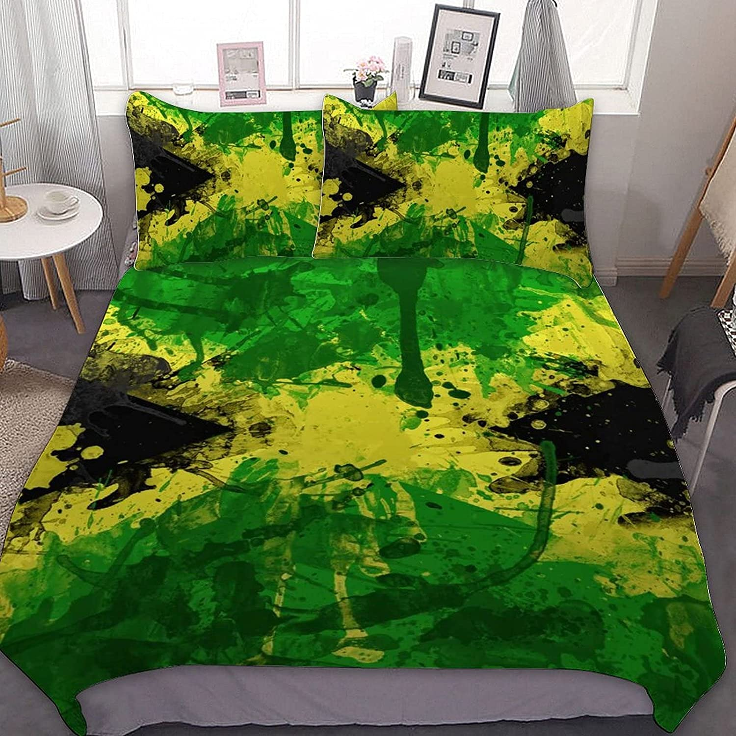 PNNUO Watercolor Jamaica Flag We OFFer at cheap Under blast sales prices Queen Bed Size Set King Full Twin
