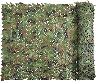 Senmortar Camo Netting, Camouflage Net Military Nets Lightweight Durable Without Grid for Sunshade Decoration Hunting Blind Shooting