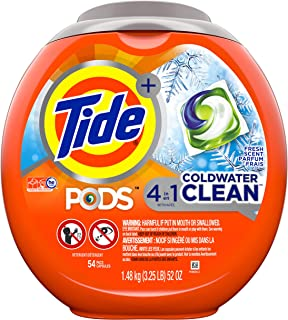 Tide PODS Coldwater Clean, Laundry Detergent Liquid Pacs, Fresh Scent, 54 Count - Packaging May Vary