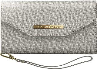 IDEAL OF SWEDEN Mayfair Handytaschen Clutch für iPhone 11 Pro (Saffiano Vegan Leather) (Planboksfodral) (Light Grey)