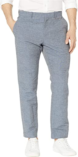 0139ae7a75 Bikkembergs linen trouser pant blue | Shipped Free at Zappos