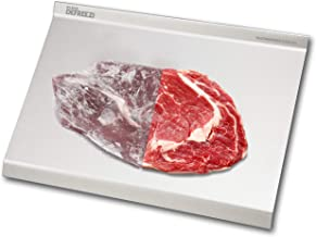 KLEVA Defreezi Fast Acting Ripple Design Defrosting Tray, Quick Safe Chemical-Free Thawing of Meat or Fish with No Power Required. - Silver