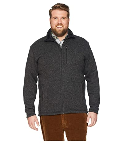 Polo Ralph Lauren Big Tall Sweater Fleece Jacket (Black Marl Heather) Men