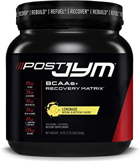 Post JYM Active Matrix - Post-Workout with BCAA's, Glutamine, Creatine HCL, Beta-Alanine, and More   JYM Supplement Science   Lemonade Flavor, 30 Servings