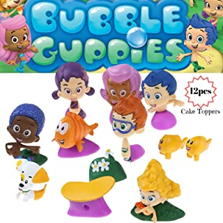 Bubble Guppies Cake Topper   12 Figure Toy Set   Cake Decorations Figurines 1-2 Tall