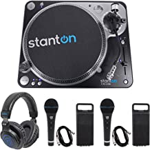 Stanton T.92 M2 USB Direct-Drive S-arm USB DJ Turntable+Headphones+2 Microphones