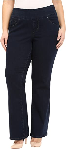 731988b2379 Jag Jeans Plus Size Plus Size Peri Pull-on Straight in After ...